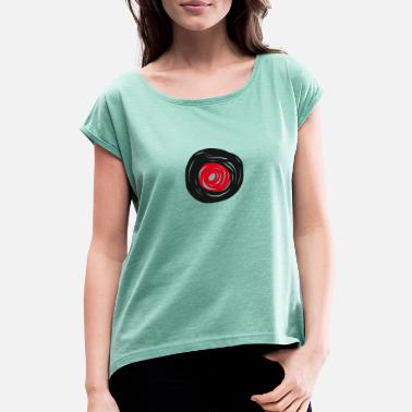 Plate Record plate - Women's Rolled Sleeve T-Shirt