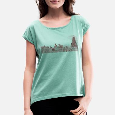 View view - Women's Rolled Sleeve T-Shirt