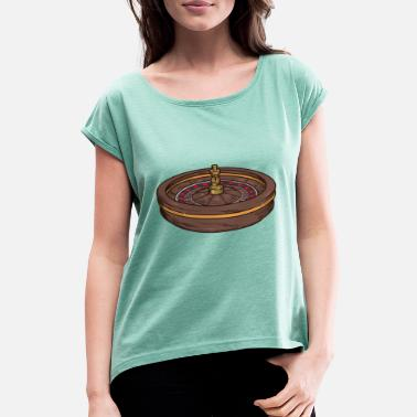 Roulette roulette - Women's Rolled Sleeve T-Shirt
