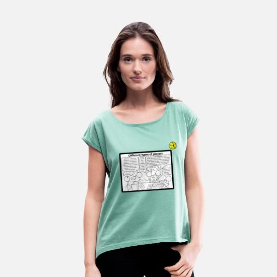 Larp T-Shirts - comic - Women's Rolled Sleeve T-Shirt heather mint