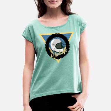 Motorcycle Logo Motorcycle vintage logo - Women's T-Shirt with rolled up sleeves