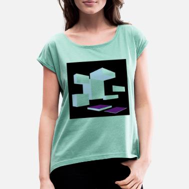 3d 3D - Women's Rolled Sleeve T-Shirt
