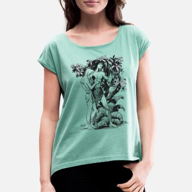 Tarzan and Jane - Women's Rolled Sleeve T-Shirt