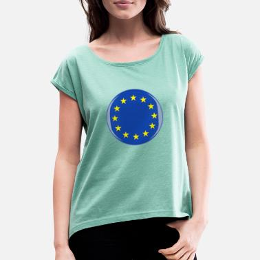 Southern Europe Europe 3D Flag - Women's Rolled Sleeve T-Shirt