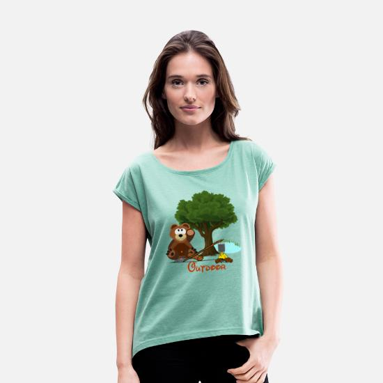 Outdoor T-Shirts - Outdoor - Women's Rolled Sleeve T-Shirt heather mint