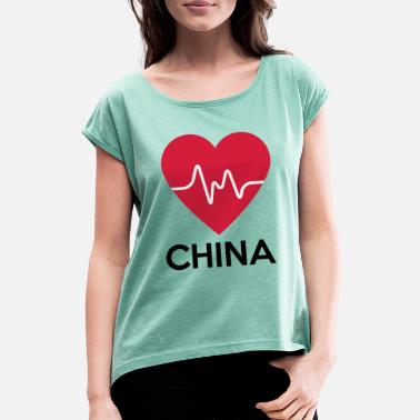 heart China - Women's Rolled Sleeve T-Shirt