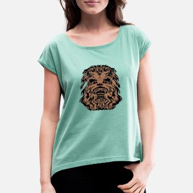 Chewbacca cool design - Women's Rolled Sleeve T-Shirt