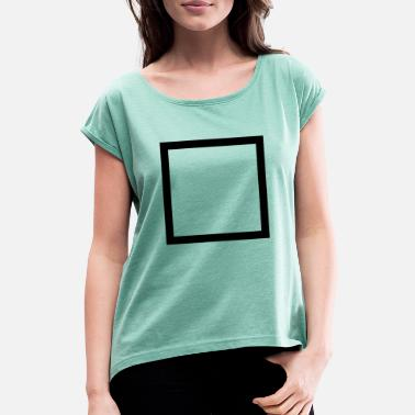 Outline Graphics square outline - Women's Rolled Sleeve T-Shirt