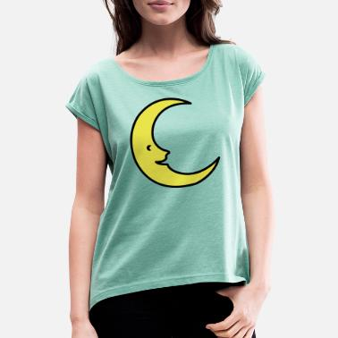 Baby moon - Women's Rolled Sleeve T-Shirt