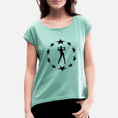 Farewell Underwear stars wreath special - Women's Rolled Sleeve T-Shirt