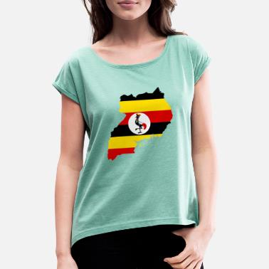 Uganda uganda collection - Women's T-Shirt with rolled up sleeves
