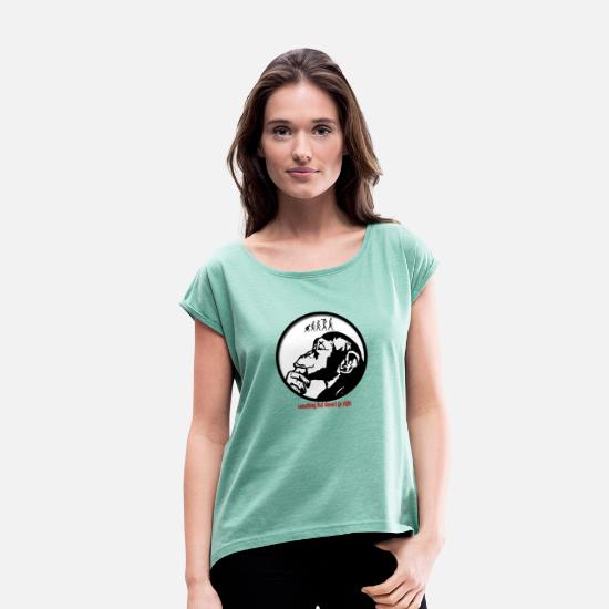 Gift Idea T-Shirts - evolution - Women's Rolled Sleeve T-Shirt heather mint