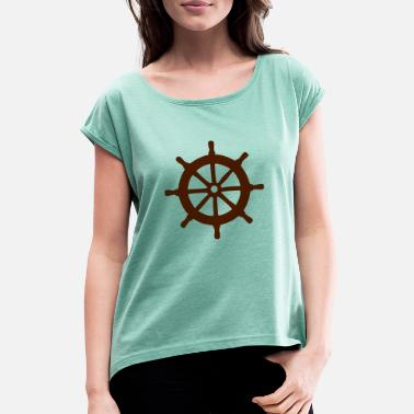 Steering Wheel Steering wheel - Women's Rolled Sleeve T-Shirt