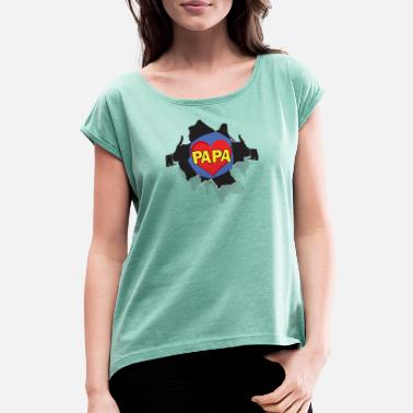 Superpapa SUPERPAPA - Women's Rolled Sleeve T-Shirt