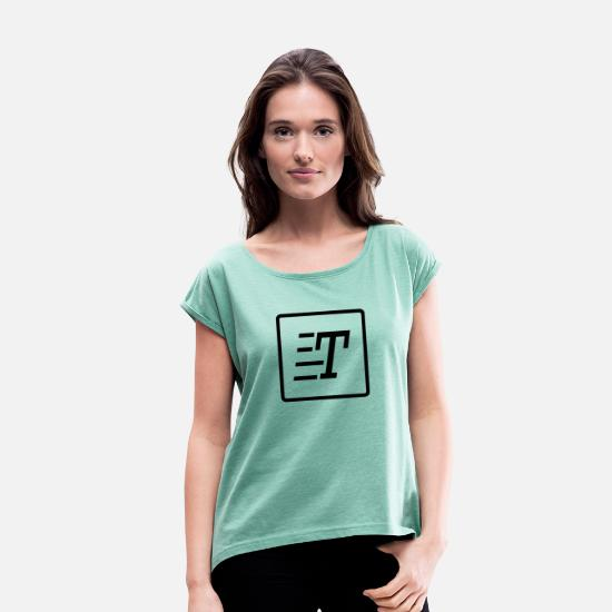Texture T-Shirts - Fast text - Women's Rolled Sleeve T-Shirt heather mint