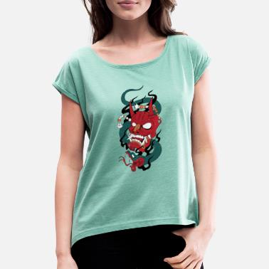 Indie Devils Snake - Women's Rolled Sleeve T-Shirt