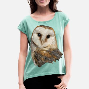Barn owl - Women's Rolled Sleeve T-Shirt