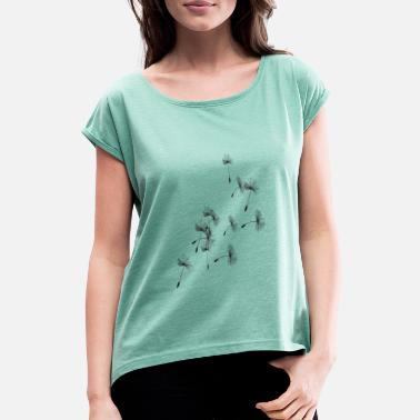 Seed Dandelion seeds - Women's Rolled Sleeve T-Shirt
