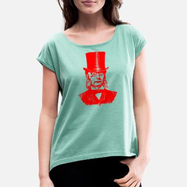 Anticapitalism Mr.anarchy - Women's T-Shirt with rolled up sleeves