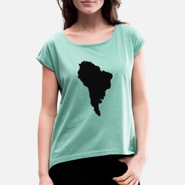South America South America - Women's Rolled Sleeve T-Shirt