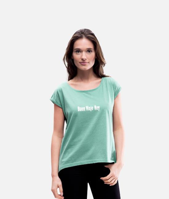 Succession T-Shirts - King Spain Bon Voyage Juan Carlos - Women's Rolled Sleeve T-Shirt heather mint