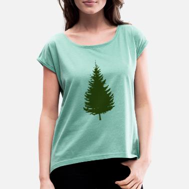 Spruce spruce - Women's T-Shirt with rolled up sleeves