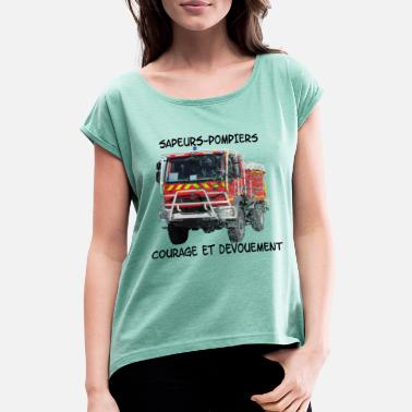 Dedicated ccf courage and dedication - Women's T-Shirt with rolled up sleeves
