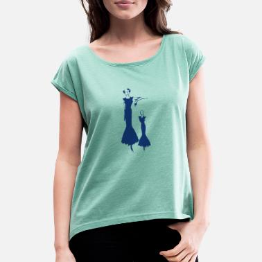 c6dad29e087d Aftonklänning Lady i aftonklänning - T-shirt med upprullade ärmar dam