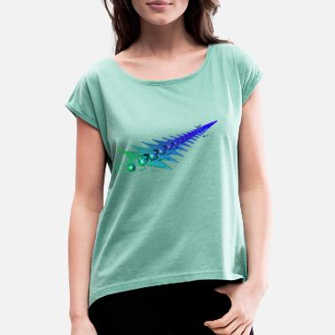 Sword Fight Sword sword fighting status fight - Women's Rolled Sleeve T-Shirt