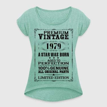 PREMIUM VINTAGE 1979 - Women's T-shirt with rolled up sleeves