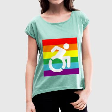 DISABLEDPROUD - Women's T-shirt with rolled up sleeves