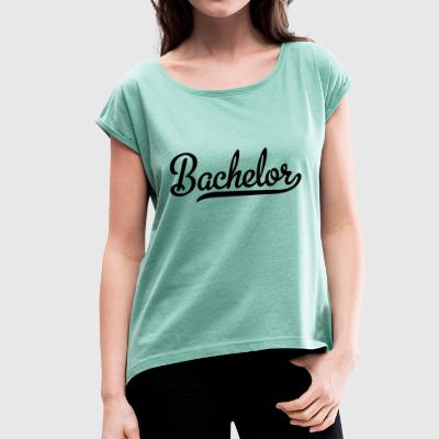 2541614 113258652 Bachelor - Women's T-shirt with rolled up sleeves