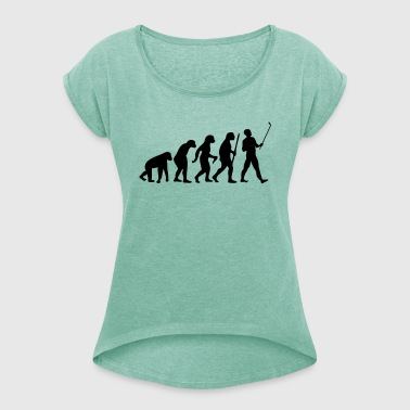 Evolution  Stick - Women's T-shirt with rolled up sleeves