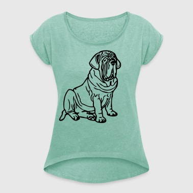 mastino ©  www.dog-power.nl - Women's T-shirt with rolled up sleeves