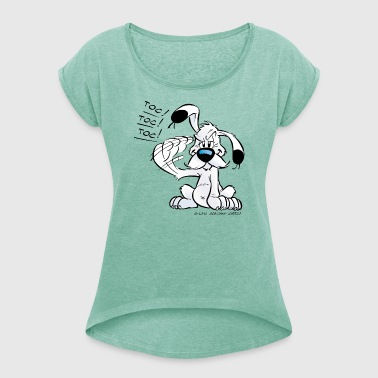 Asterix & Obelix - Idefix 'Toc!' Women's T-Shirt - Women's T-shirt with rolled up sleeves