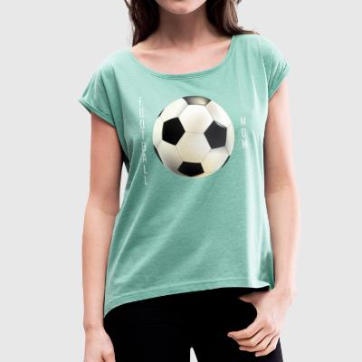 Football Mamma Collection - T-skjorte med rulleermer for kvinner