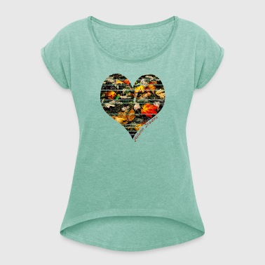 Autumn Dreams - Women's T-shirt with rolled up sleeves