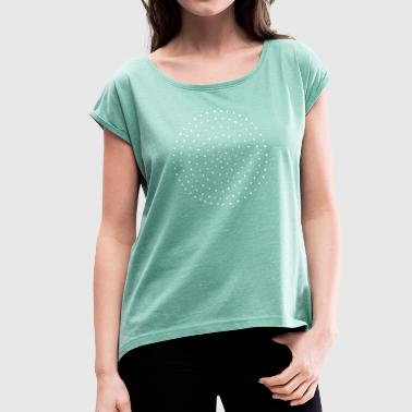 Points Points Points dotted - Women's T-shirt with rolled up sleeves