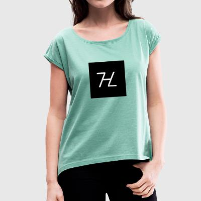 Halle7 Logo - Women's T-shirt with rolled up sleeves