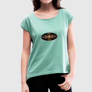 apophysis big oval - Women's T-shirt with rolled up sleeves