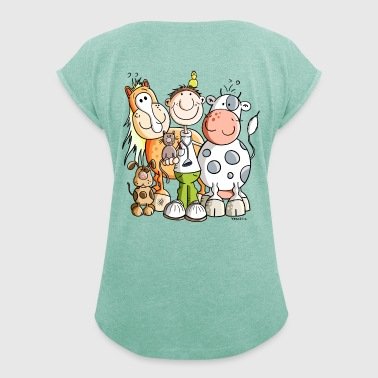 Funny Veterinarian - Women's T-shirt with rolled up sleeves
