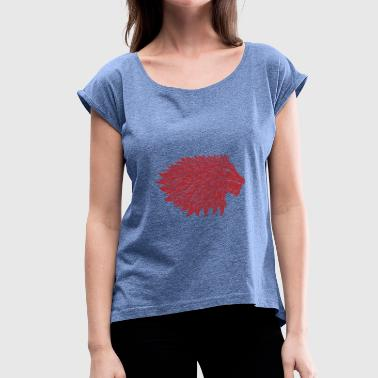 Lion mane - Women's T-shirt with rolled up sleeves