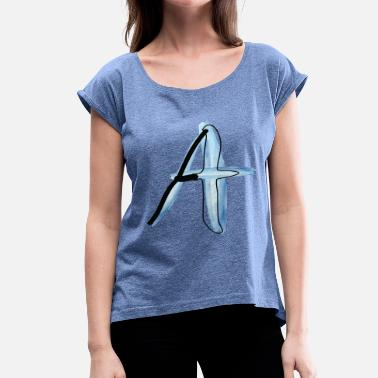 Watercolor watercolor A - Women's T-Shirt with rolled up sleeves