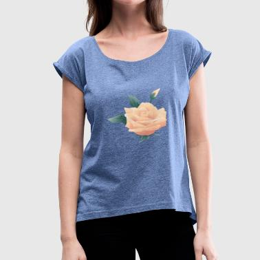 Roses Flowers Rose flower - Women's T-Shirt with rolled up sleeves