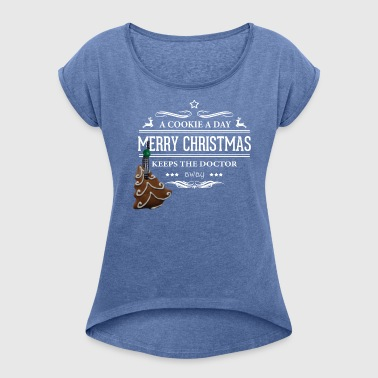 cookie - Women's T-shirt with rolled up sleeves