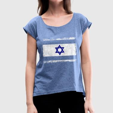 Israel Flag Israel flag - Women's T-Shirt with rolled up sleeves