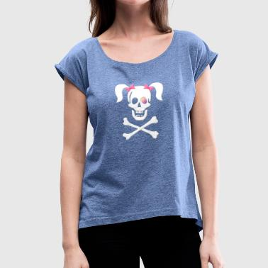 Pirate bitch, pirate bride, pirate - Women's T-Shirt with rolled up sleeves
