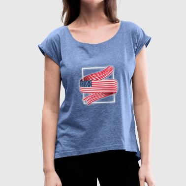 Nort America My america - Women's T-Shirt with rolled up sleeves