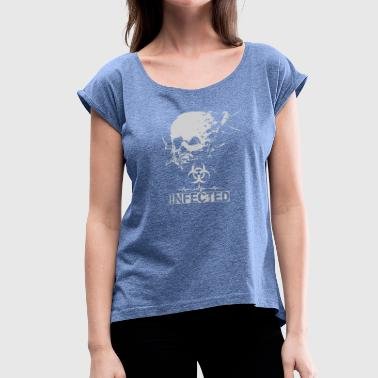 Infected - Women's T-Shirt with rolled up sleeves