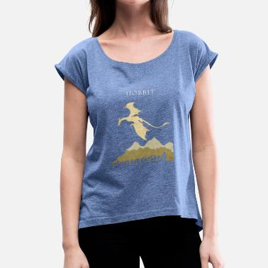 Smog the hobbit - Women's T-Shirt with rolled up sleeves
